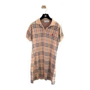 Burberry Vintage Plaid Mini Polo Dress